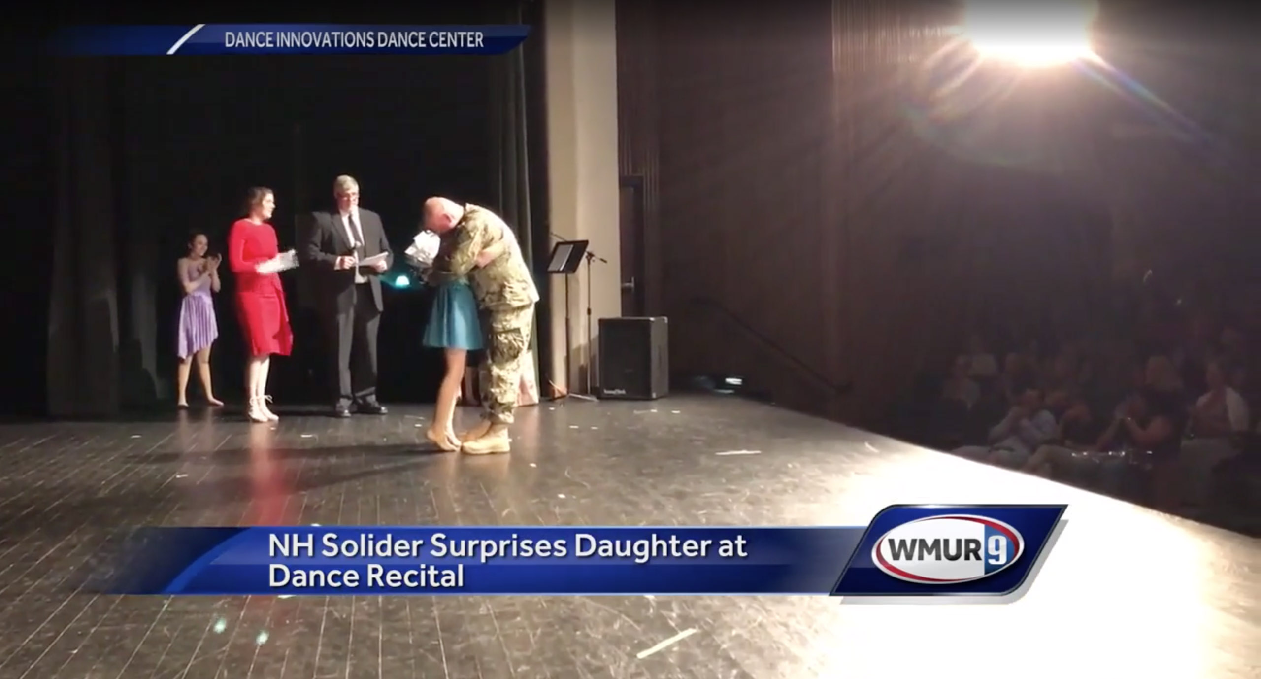 NH Soldier Surprises Daughter At Dance Recital
